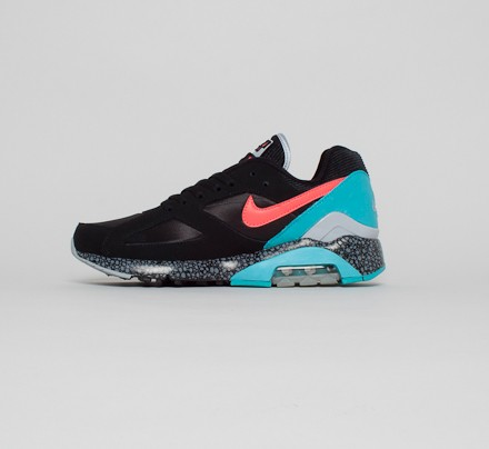 Nike Air Max 180 Schuhe black laser crimson dusty cactus