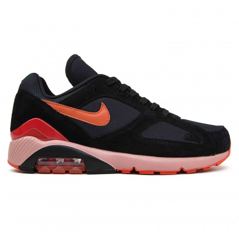 Nike Air Max 180 Black Team Orange University Red Av3734 001