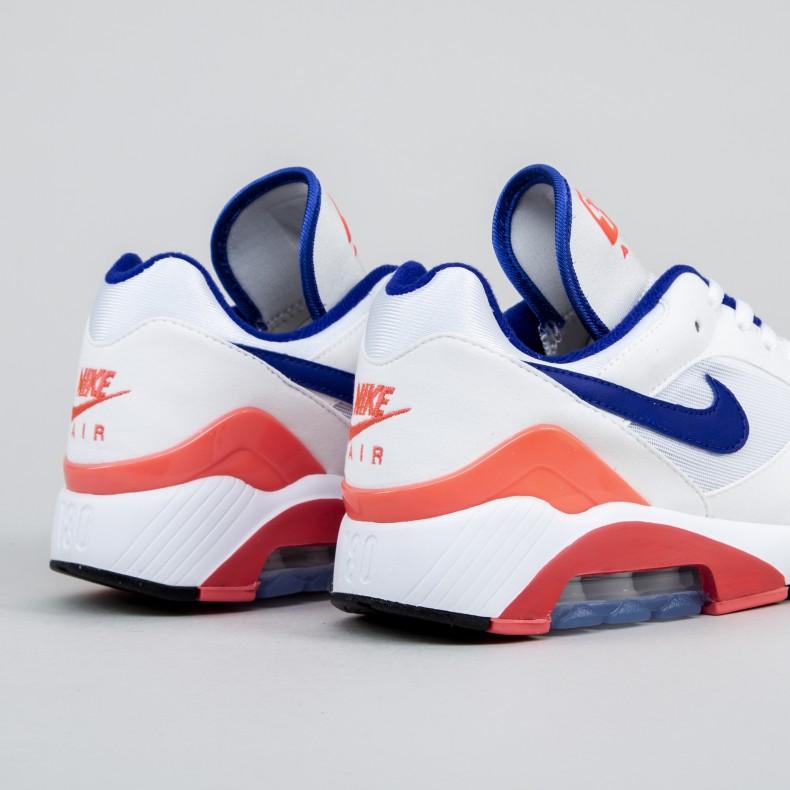 Nike Air Max 180 (WhiteUltramarine Solar Red)