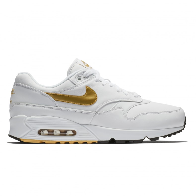 the best attitude 69873 ca8db Nike Air Max 90 1  Metallic Gold  (White Metallic Gold-Black) - AJ7695-102  - Consortium.