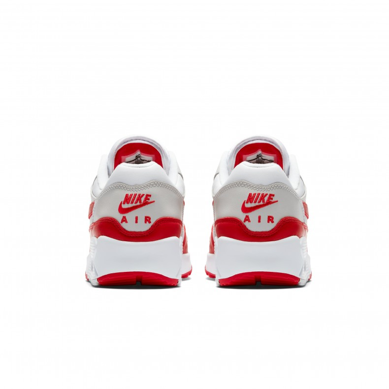 brand new b2049 e5008 Nike Air Max 90/1 WMNS 'University Red' (White/University Red-Neutral  Grey-Black)