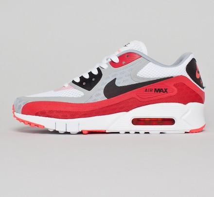 Nike Air Max 90 Breeze (WhiteBlack Wolf Grey University Red