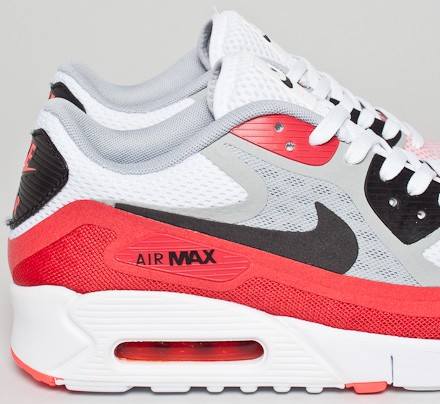 premium selection 383d2 bc8a0 Nike Air Max 90 Breeze (White/Black-Wolf Grey-University Red ...