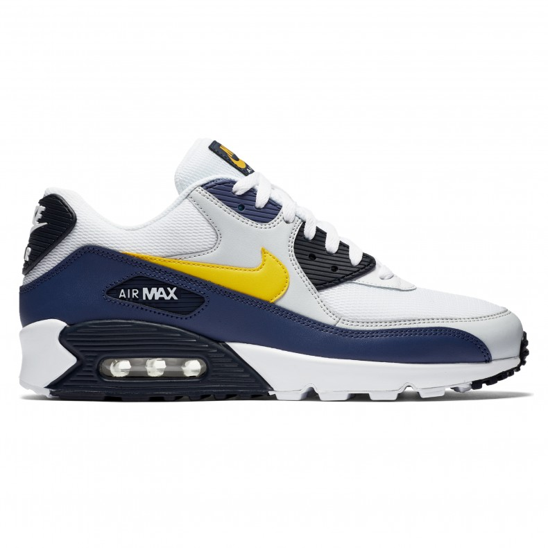 Nike Air Max 90 Essential 'Michigan' (WhiteTour Yellow Blue Recall)