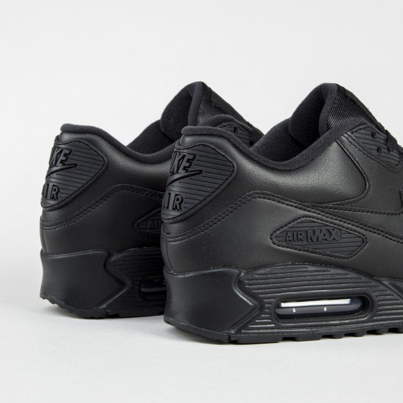 new arrival 6ba32 72605 Nike Air Max 90 Leather (Black/Black)