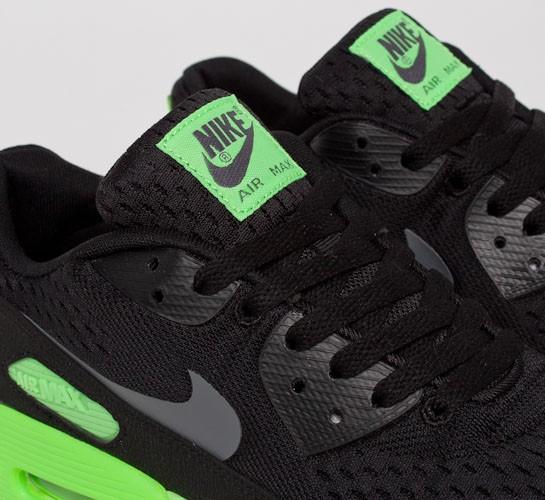 size 40 cde05 54ff3 Nike Air Max 90 Premium Comfort EM (Black Dark Grey-Flash Lime) -  Consortium.