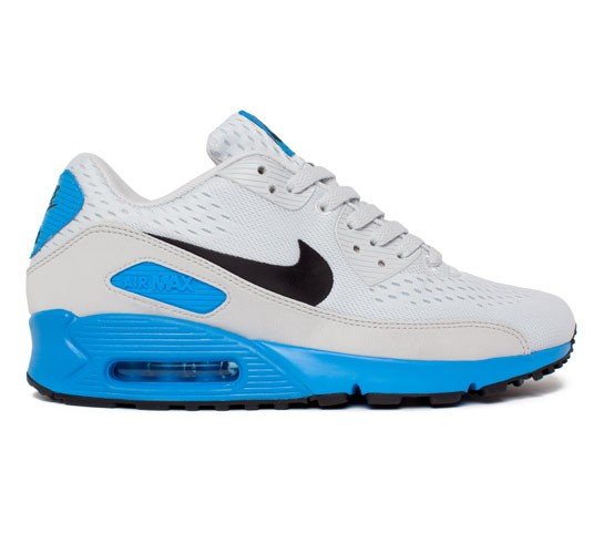 more photos bec59 f2902 Nike Air Max 90 Premium Comfort EM (Pure Platinum Black-Blue Hero) -  Consortium.