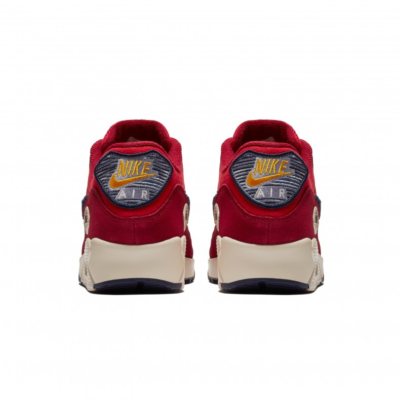 lowest price 59a07 4ebe0 Nike Air Max 90 Premium SE  Chenille Swoosh  (University Red Provence  Purple) - Consortium.