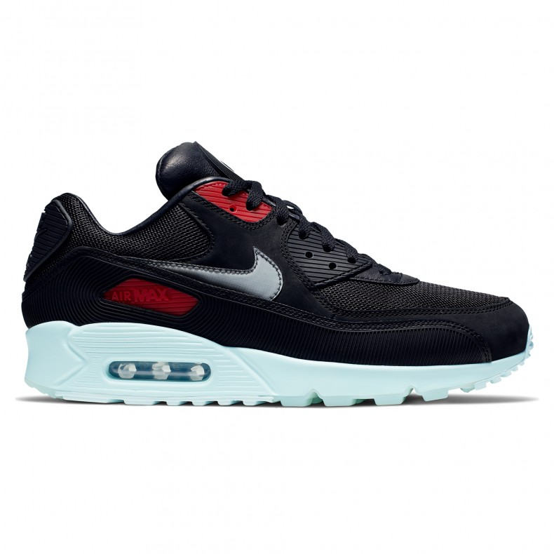 hot sale online d3dba dadc4 Nike Air Max 90 Premium 'Vinyl' (Black/Cool Grey-Teal Tint-University Red)