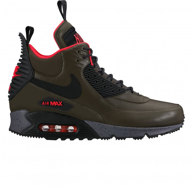 dd344f7ff8 Nike Air Max 90 Sneakerboot Winter (Dark Loden/Black-Bright Crimson) -  Consortium.