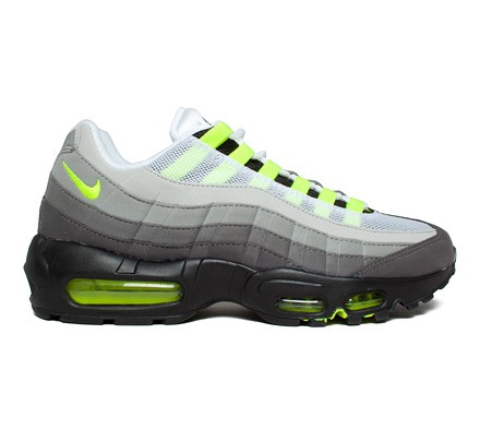 newest 33f51 82853 Nike Air Max 95 OG 'Neon' (Black/Volt-Medium Ash-Dark Pewter ...
