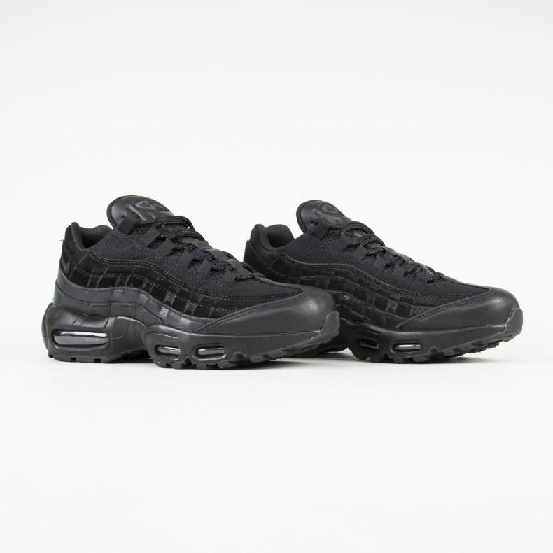 Nike Air Max 95 Premium (Black Black-Black) - Consortium. e5d630cf76c3