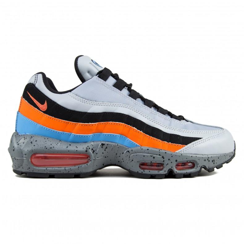 more photos bf163 e4c4d Nike Air Max 95 Premium (Wolf GreySafety Orange-University Blue) -  Consortium.