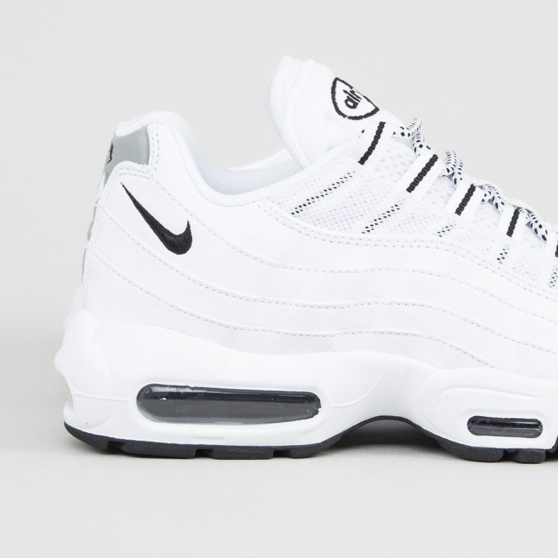 Nike Air Max 95 (White/Black,Black)