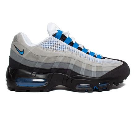 Nike Air Max 95 White Blue Spark Neutral Grey Medium Grey