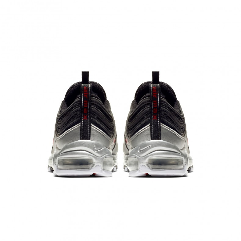 online store 5ee12 cb2bf Nike Air Max 97  B-Sides Metallic Pack  QS. (Black Varsity Red-Metallic  Silver-White)