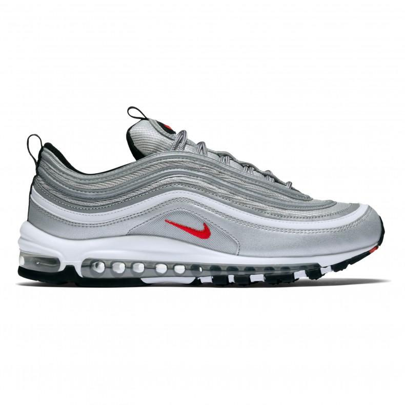 "Nike Air Max 97 OG ""Silver Bullet"" Metallic SilverVarsity"