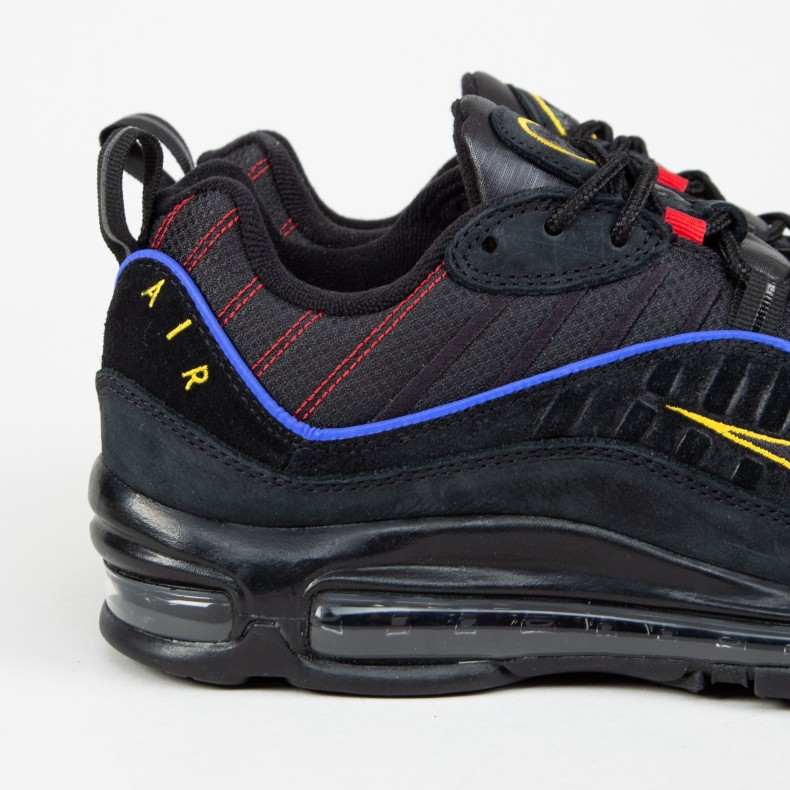 e2fdcfbd88b3b Nike Air Max 98  Black Blue  (Black Black-Amarillo-University Red ...