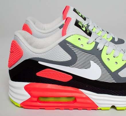 Nike Air Max Lunar 90 WR Light Ash Grey Black Laser Crimson