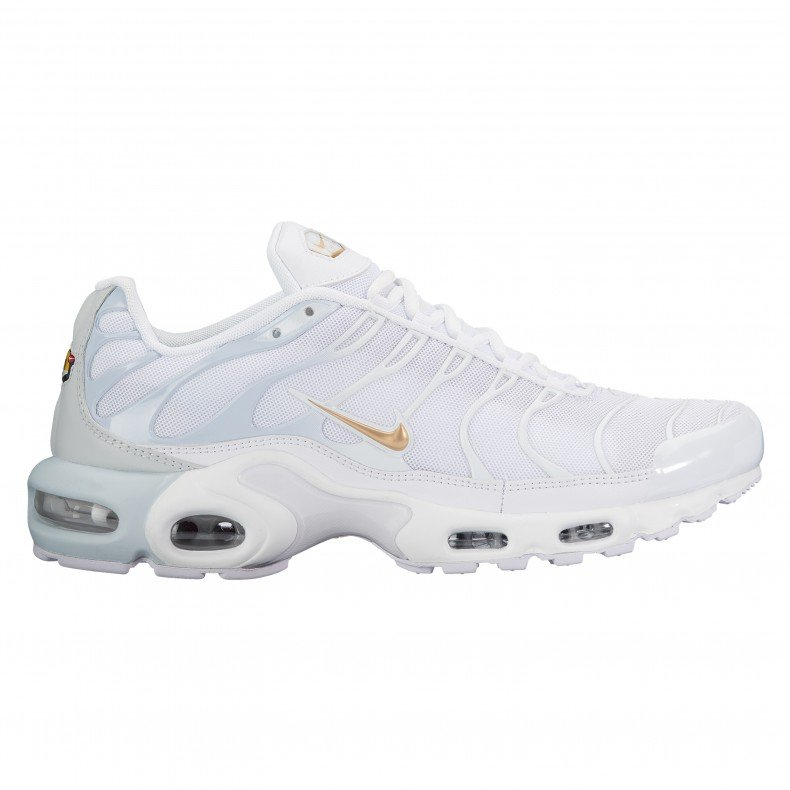 cheap for discount ec410 f5519 Nike Air Max Plus (Pure Platinum/Metallic Gold-White)