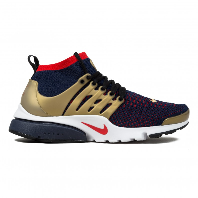 huge selection of e1ba0 dbf0c Nike Air Presto Flyknit Ultra  Olympic  (College Navy Comet Red-Metallic  Gold) - Consortium.