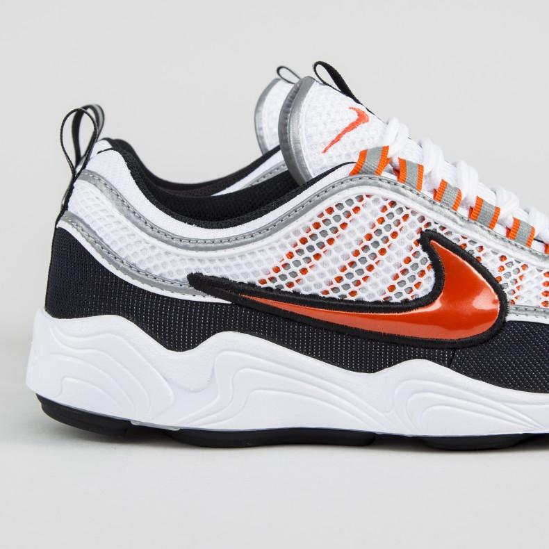 d365dd985cd Nike Air Zoom Spiridon '16 (White/Team Orange-Black-Metallic Silver ...