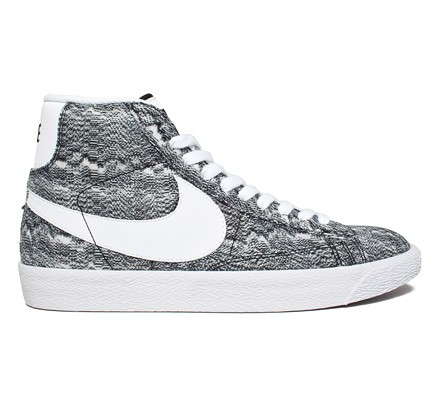 Nike Blazer Mid Premium Vintage Textile  Marble Mesh  QS (Black White) -  Consortium 338b331b0