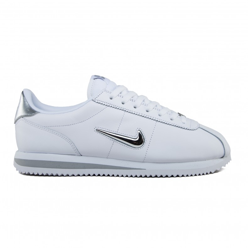 purchase cheap 3d13f 0d6fd Nike Cortez Basic Jewel (White/Metallic Silver) - Consortium.