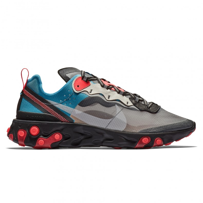 new style 0f021 49671 Nike React Element 87  Solar Red  (Black Cool Grey-Blue Chill-Solar Red) -  AQ1090-006 - Consortium.