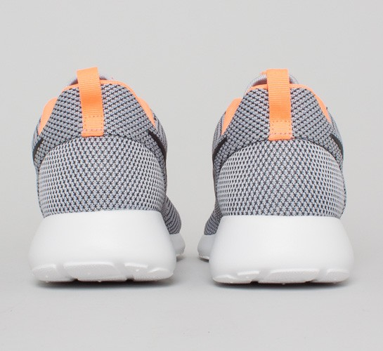 Nike Roshe Run Wolf GreyBlackAtomic OrangeWhite Shoes