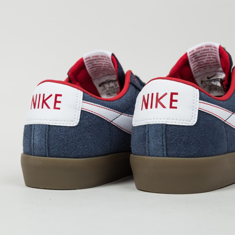 bee426c5a91b Nike SB Blazer Low  Grant Taylor  (Obsidian White-University Red-Gum ...