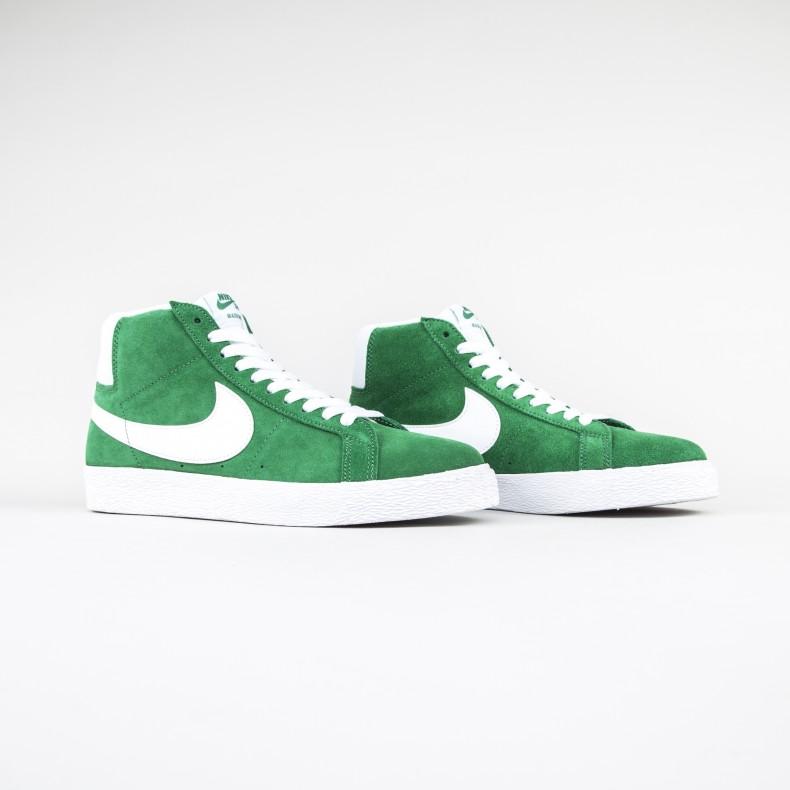 the latest 0562f 6410e Nike SB Blazer Zoom Mid (Pine Green/White) - Consortium.