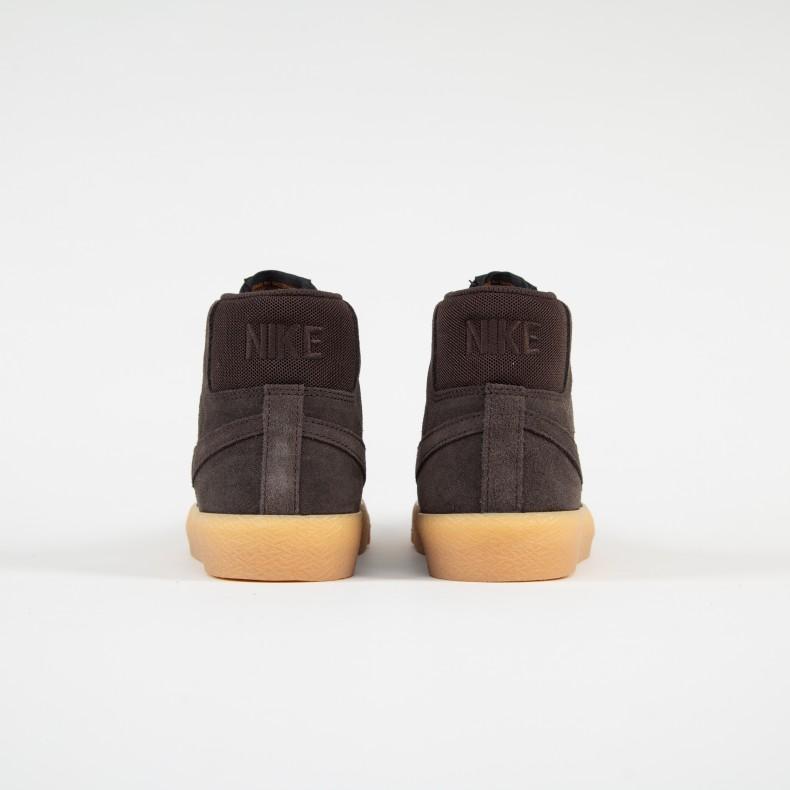 8358cae37d9c Nike SB Blazer Zoom Mid. (Velvet Brown Velvet Brown-Cinder Orange)
