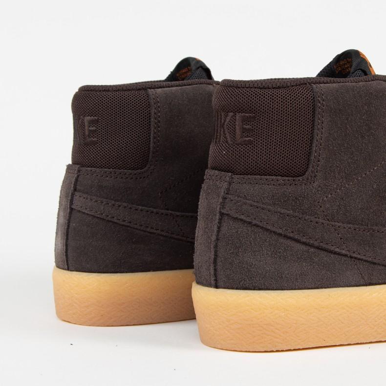 Nike SB Blazer Zoom Mid. (Velvet Brown Velvet Brown-Cinder Orange) 1ea8b782a