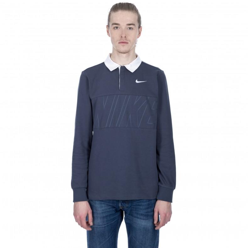 thunder Bluewhite Consortium Nike Long Sb Dry Polo Sleeve Shirt nZwpq