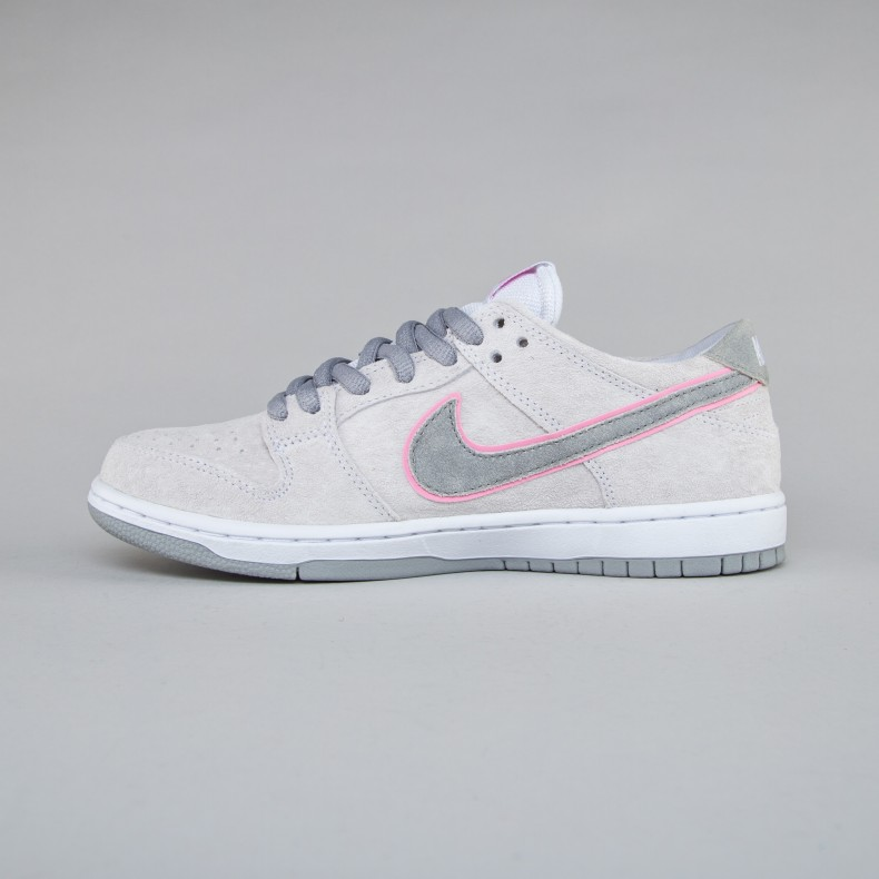 finest selection fc923 96ca8 Nike SB Dunk Low Pro 'Ishod Wair' (White/Perfect Pink-Flat ...