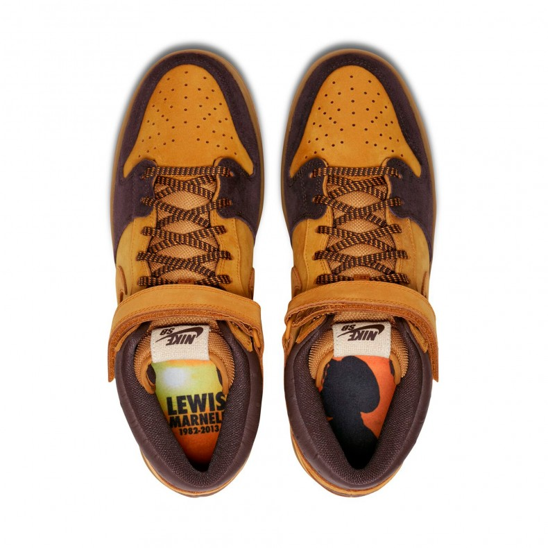 quality design b42ac b5063 Nike SB Dunk Mid Pro 'Lewis Marnell' QS (Cappuccino/Bronze ...