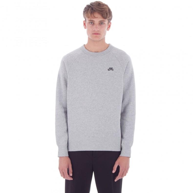 89af26ef9885 Nike SB Icon Crew Neck Sweatshirt (Dark Grey Heather/Black ...