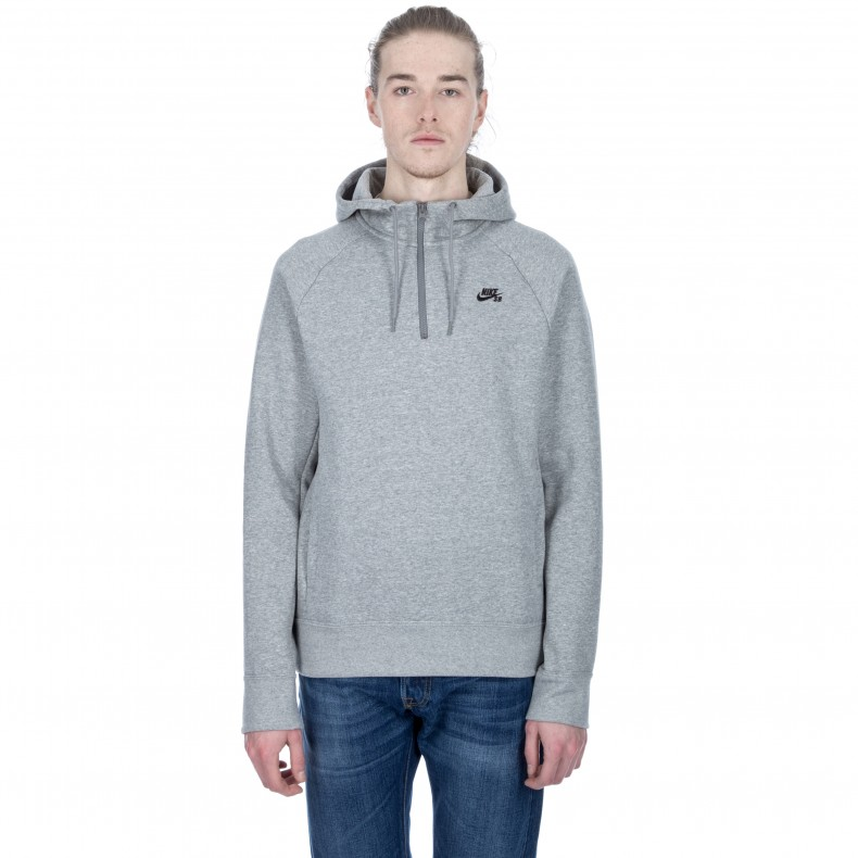 Nike SB Icon Half-Zip Pullover Hooded Sweatshirt (Dark Grey Heather Black)  - Consortium. 82a02c75cca5