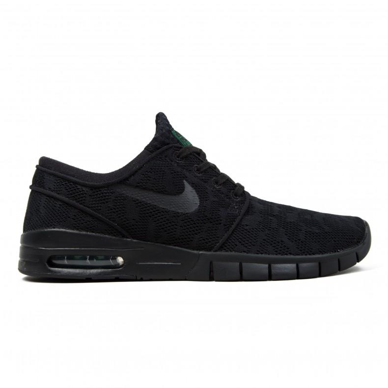 brand new 0349d 1f2fe Nike SB Stefan Janoski Max (Black/Black-Pine Green) - Consortium.