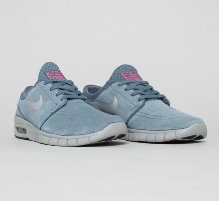 Nike SB Stefan Janoski Max L (Blue Graphite/Metallic Silver-Pink Pow) -  Consortium