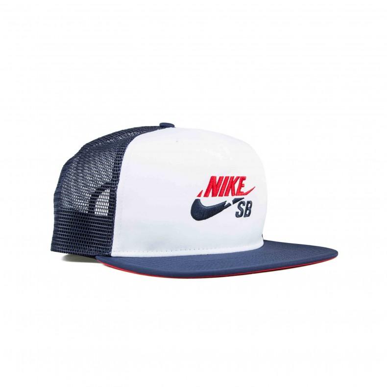 Nike SB Trucker Cap (White Midnight Navy University Red) - Consortium. 848b7372815