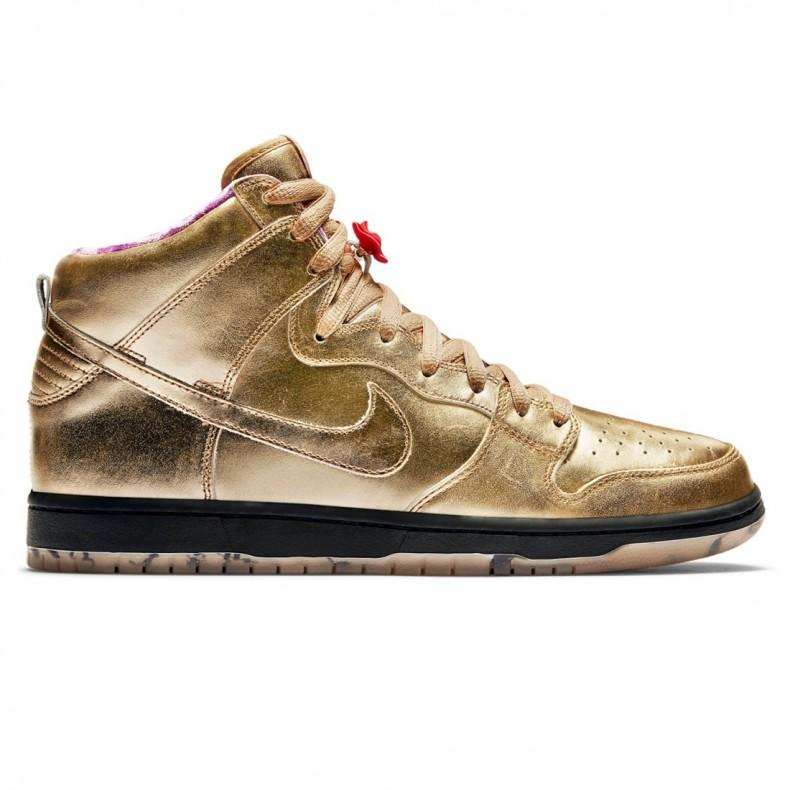 b6db330c4dc0 Nike SB x Humidity Dunk High  Trumpet  QS (Metallic Gold Metallic ...