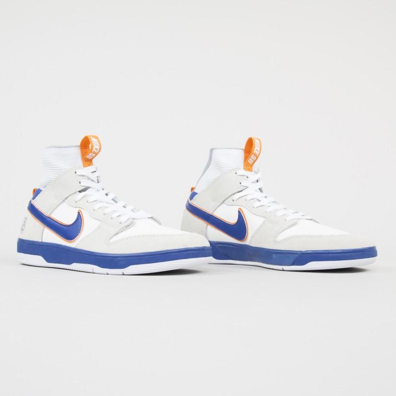 ec0e4e7a703e Nike SB x Medicom Zoom Dunk High Elite QS  Be rbrick  (White White Gold  Post College Blue) - Consortium