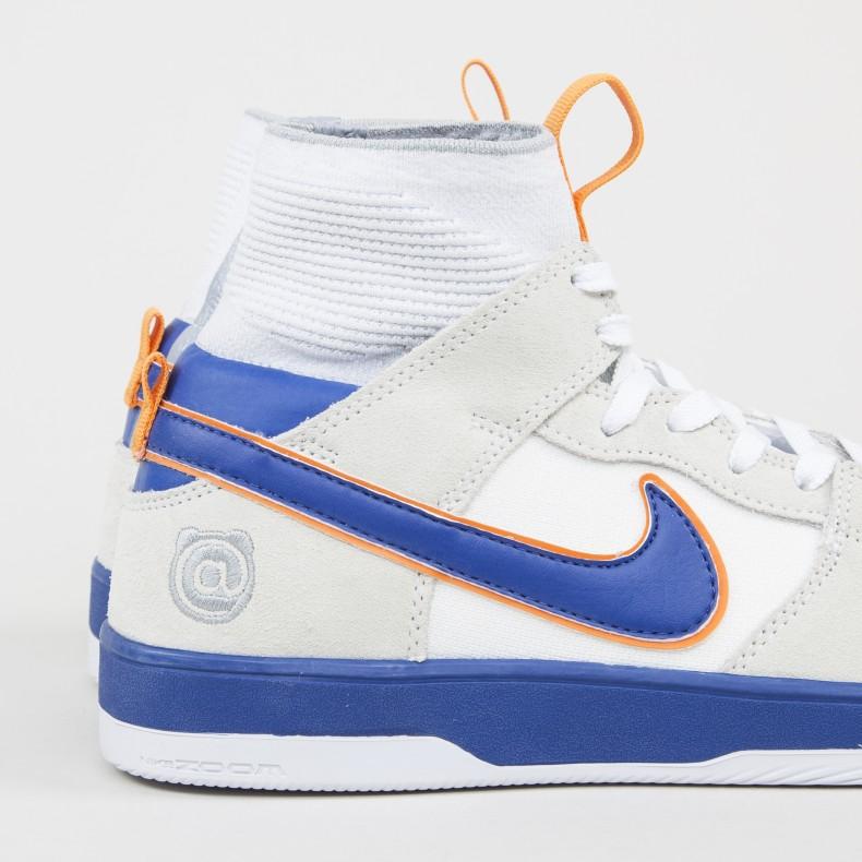 new arrivals 3bc60 46893 Nike SB x Medicom Zoom Dunk High Elite QS Be rbrick. (White White Gold ...