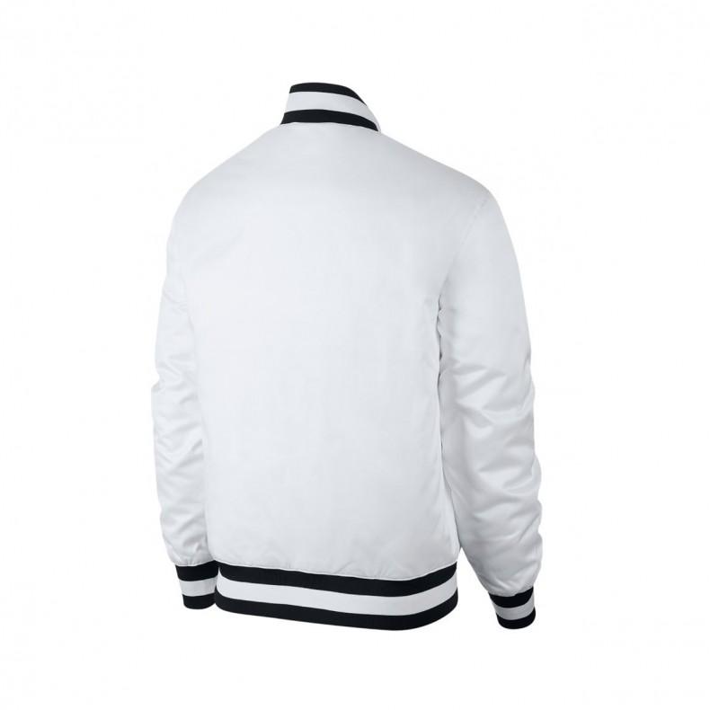 lowest price super quality united kingdom Nike SB x NBA Bomber Jacket (White/White)