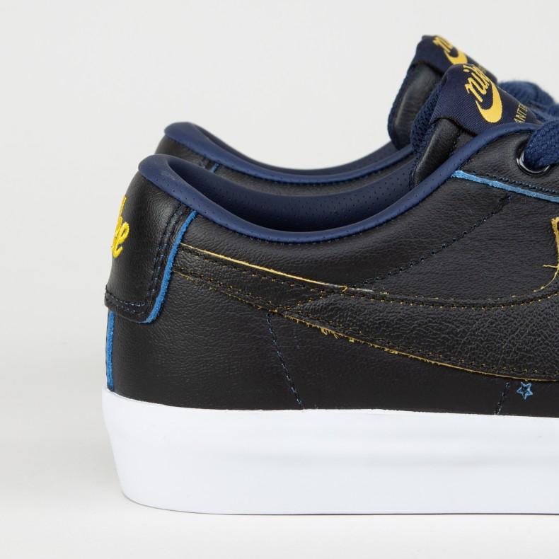 reputable site 9c032 bf6fd Nike SB x NBA Zoom Blazer Low GT 'Golden State Warriors'  (Black/Black-Amarillo-Coast)