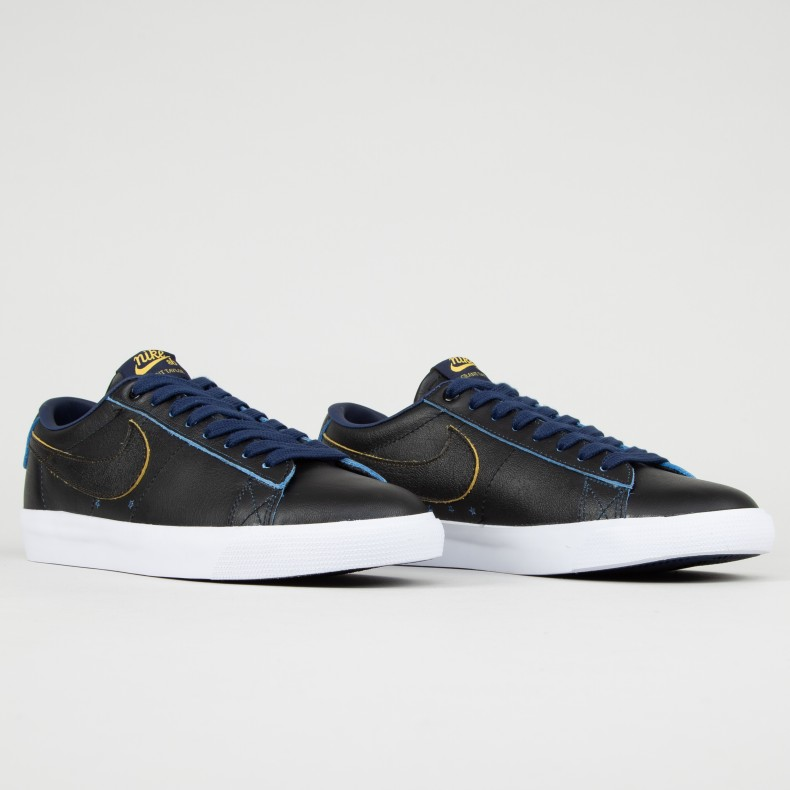 reputable site 9e8bd 42a37 Nike SB x NBA Zoom Blazer Low GT 'Golden State Warriors'  (Black/Black-Amarillo-Coast)