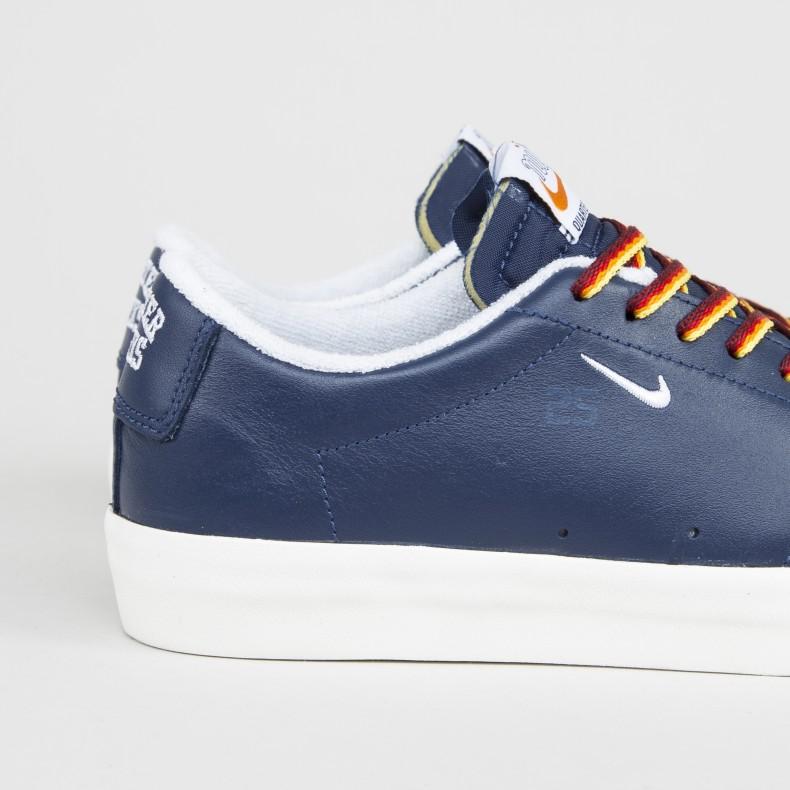 new concept 6d812 d1be5 Nike SB x Quartersnacks Zoom Blazer Low XT (Navy/White-Sail)