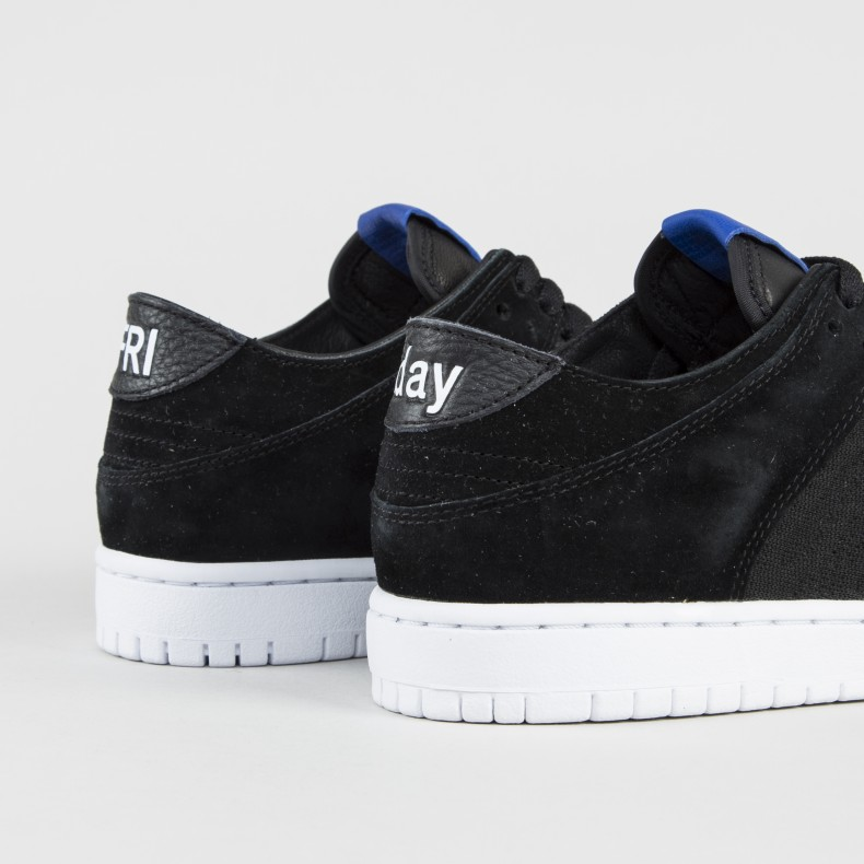 new arrival 5ee88 0de40 Nike SB x Soulland Dunk Low Pro Deconstructed FRI.Day 2.0 QS (Black/Game  Royal/White)